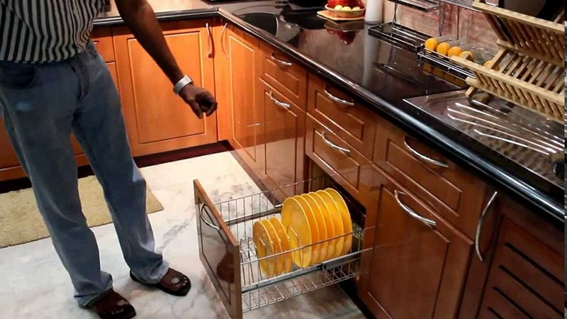 Modular Kitchen Trolley Furniture In Pune Residential